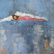 Artful Ideas: While You Were Sleeping Angel painting