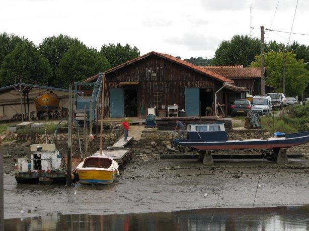 Oyster farm, Arcachon, Atlantic Coast, France.