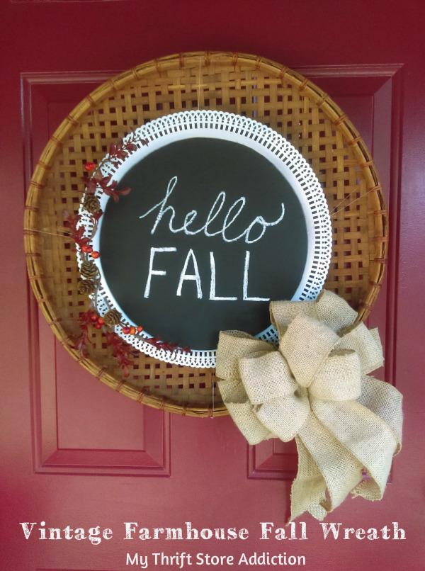 vintage farmhouse fall wreath