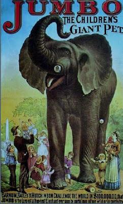 Cartel de elefante época victoriana