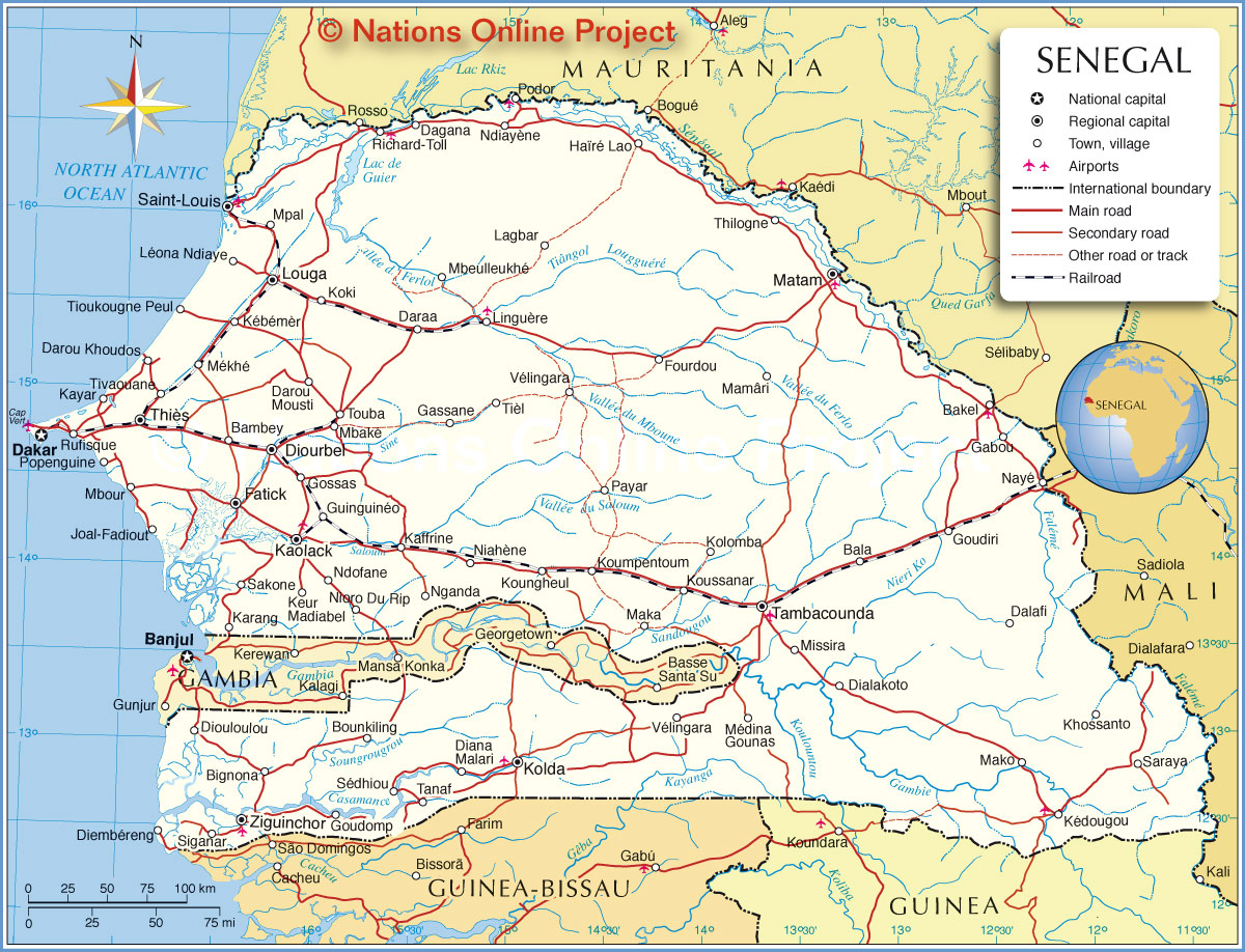 Senegal | Mapas Geográficos do Senegal