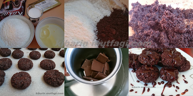 çikolatalı coco congolais tarifi 4 malzeme ile 5 dakikada hazır  farklı kurabiye tarifi Hindistan cevizli unsuz kurabiye