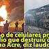 Explosão de celulares provocou incêndio que destruiu ônibus no Acre, diz laudo