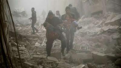 Rezim Assad Serang Sekolah Dasar dan RS di Timur Ghouta, 20 Warga Tewas