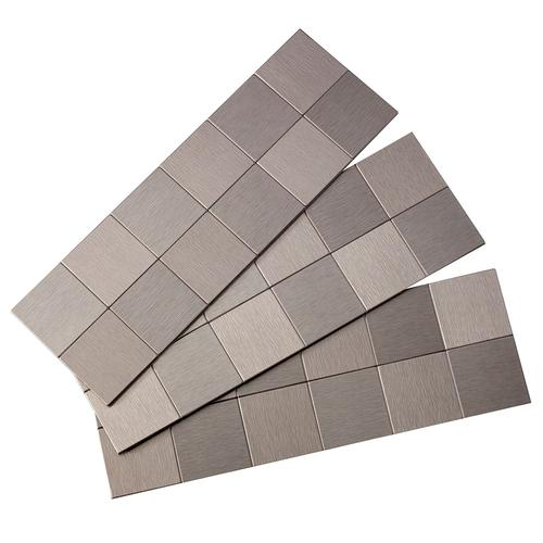 Self Stick Metal Backsplash Tiles Home Depot Metal Tile: Peel And Stick Stainless Steel
