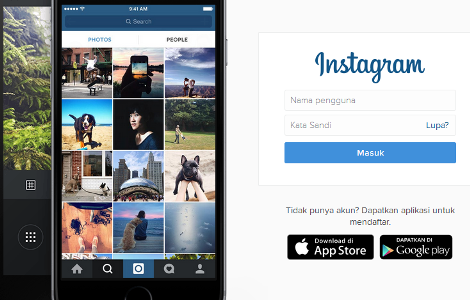 Instagram, jejaring sosial terkenal
