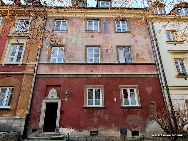 Warszawa Warsaw kamienica zabytek architektura architecture Nowe Miasto sgraffito Zofia Artymowska