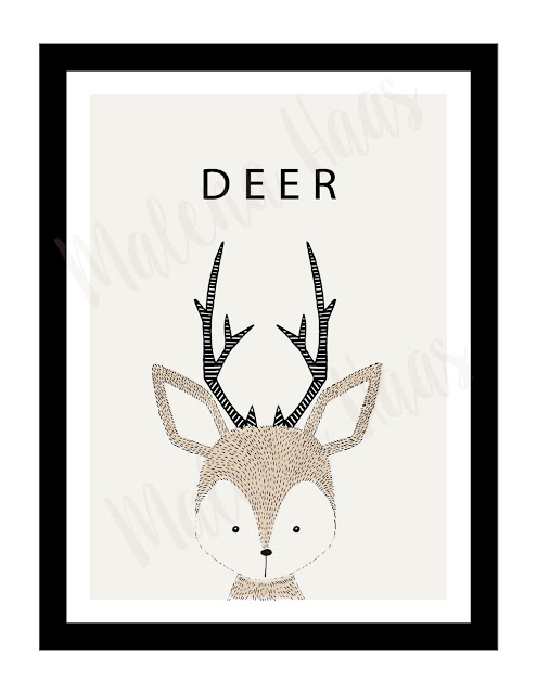 Free Woodland Animal Prints- Deer