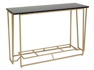mueble recibidor retro dorado