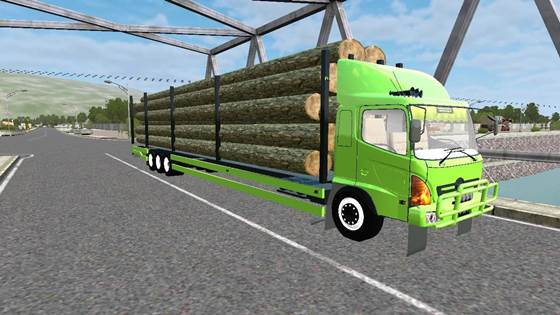 Mod Truck Hino Tribal Angkut Kayu Long Chassis