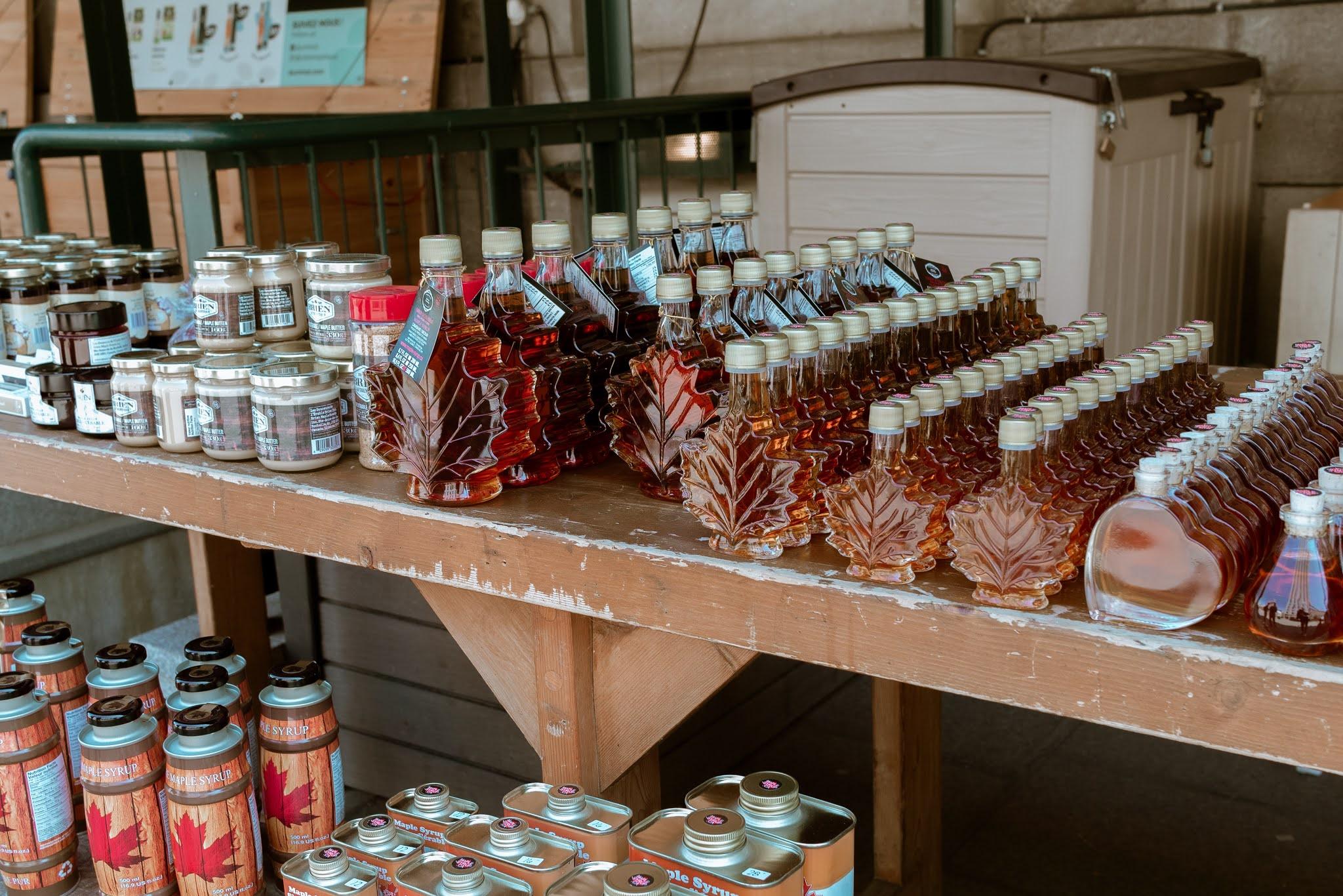 diverços produtor feitos de mapple syrup