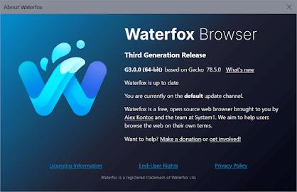 Waterfox Latest 2021 reviews