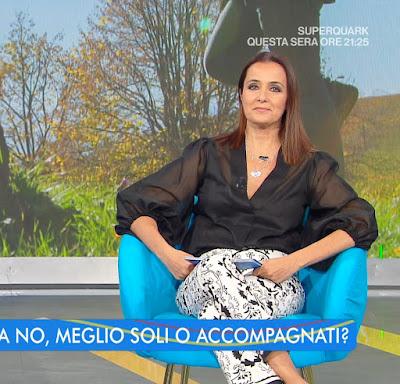 Roberta Capua abbigliamento bianconeri oggi 21 luglio