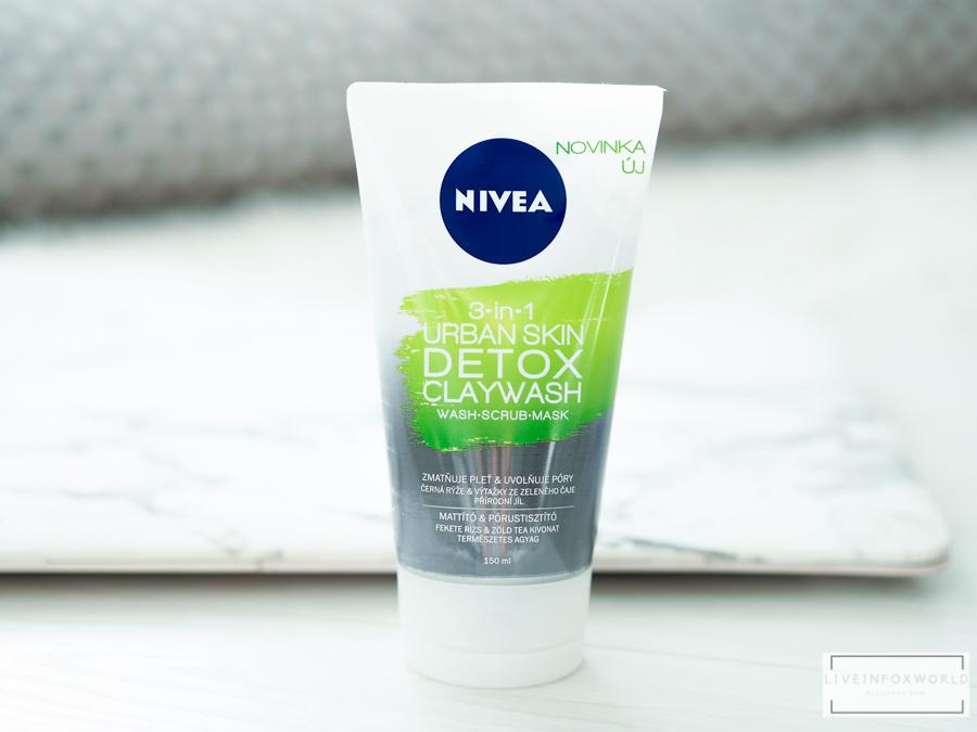 Detoxikačný ílový čistiaci krém URBAN SKIN DETOX 3v1