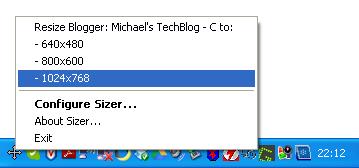 Sizer - taskbar