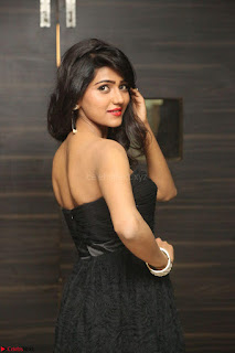 Shalu Chourasiya in spicy Sleeveless Strapless Black Top at O Pilla Nee Valla Movie Audio Launch Feb 2017 040.JPG