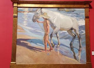 Madrid. Casa-Museo de Sorolla. El baño del caballo.