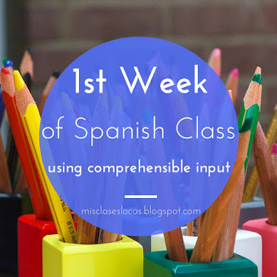 1st week of Spanish Class using CI - Mis Clases Locas
