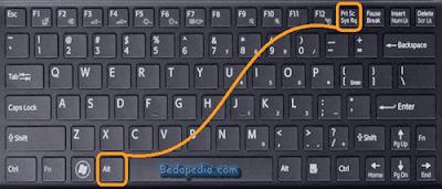 screenshot di laptop alt + PrtSc