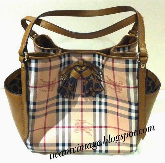 6ad25355bea0 Burberry Small Haymarket Check Tassel Detail Tote Bag