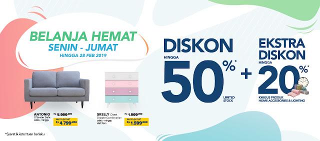 #Informa - #Promo Belanja Hemat Diskon 50% & Ekstra Diskon 20% (s.d 28 Feb 2019)