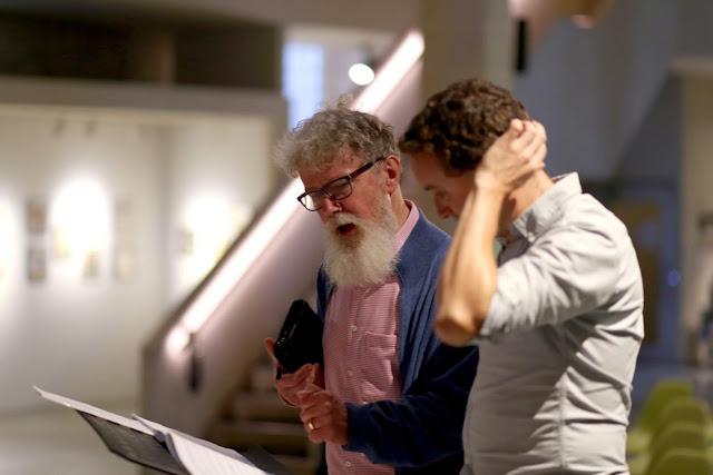 The Gardeners: Robert Hugill & William Vann in rehearsal (Photo Robert Piwko)
