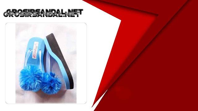 Wedges Pompom RSL Baby Murah   Pabrik Sandal Garut