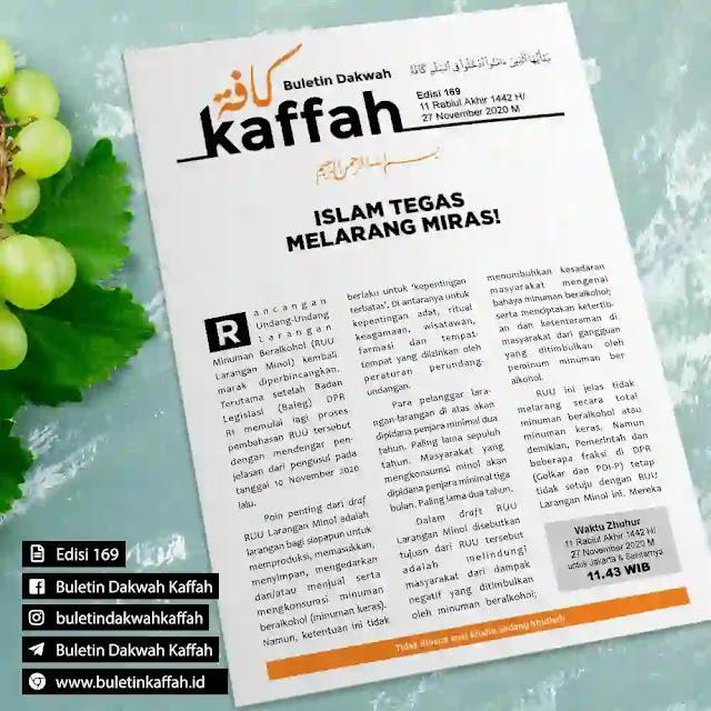 BULETIN DAKWAH KAFFAH - EDISI 169 / 11 Rabiul Akhir 1442 H/27 November 2020 M