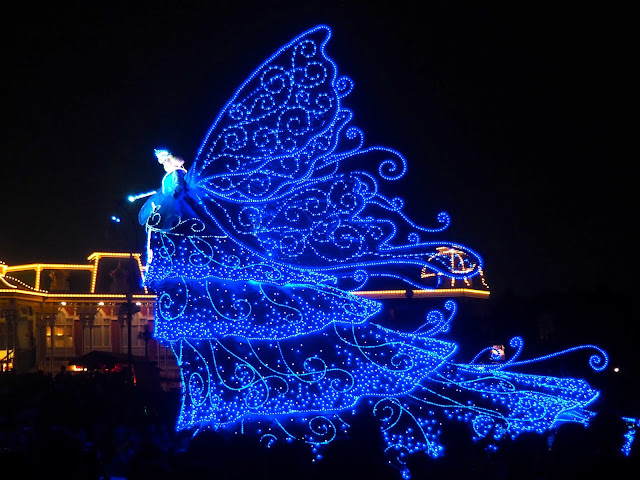 Blue Fairy float, Dreamlights parade, Tokyo Disneyland, Japan