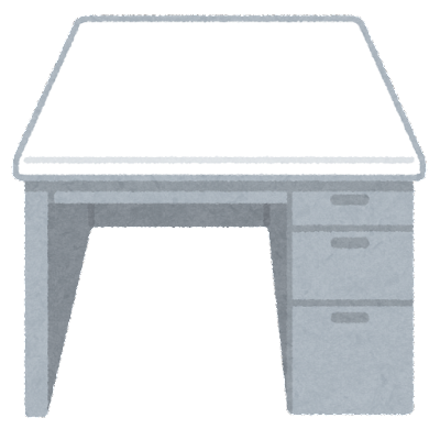 会社の机のイラスト