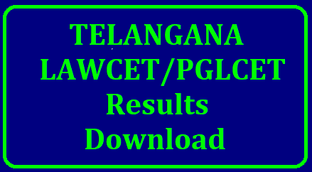 TS LAWCET/PGLCET Results, Rank Cards 2018 Download