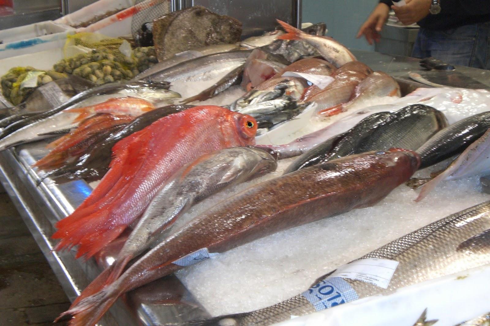 Santiago de Compostela market has a fantastic fish section
