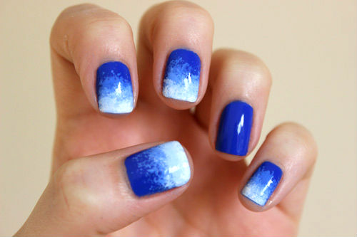 Top 5 nail art design types of nail art design it will look awesome if you create gradient or galaxy nail art by using sponging technique you just have to start with a gradient base and then add a prinsesfo Image collections
