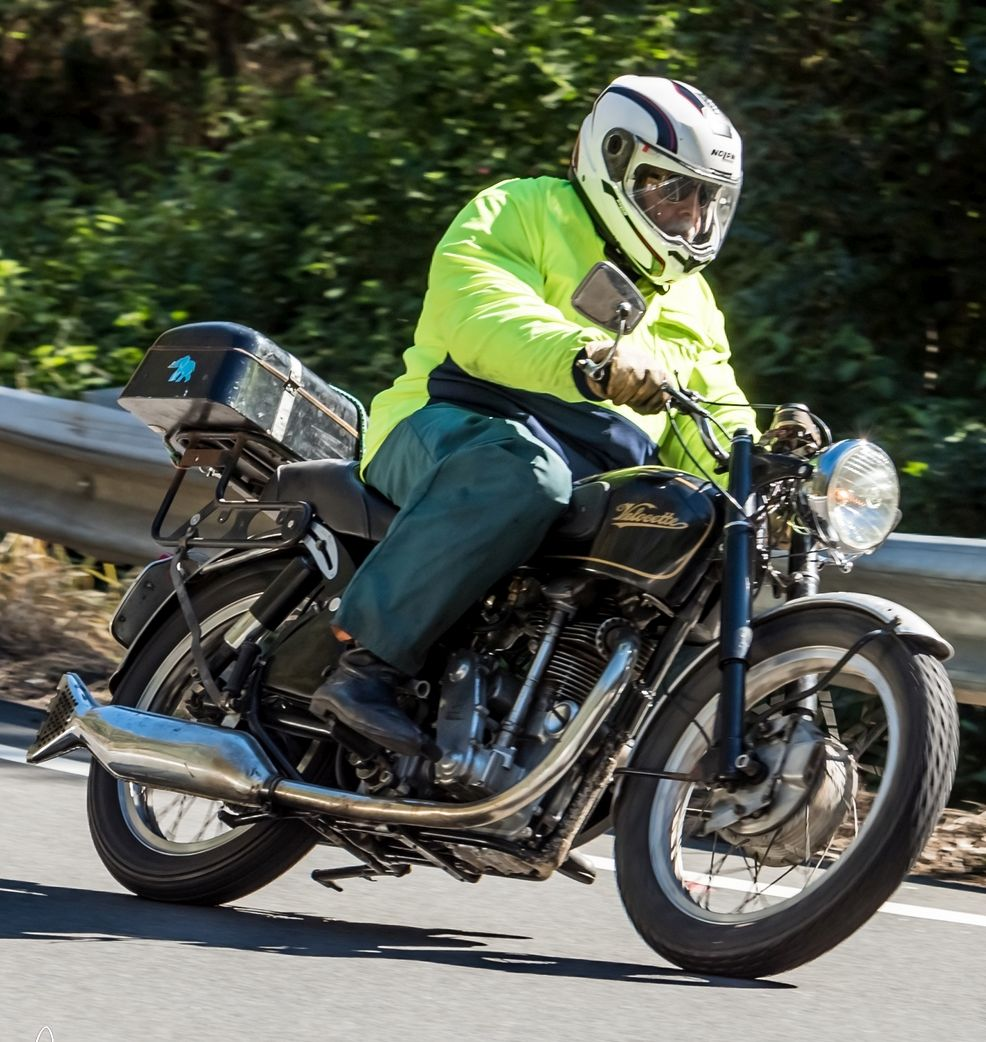 DQ on his second KSS engined RS framed Velocette