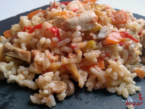 Receta del Arroz con pollo y verduras