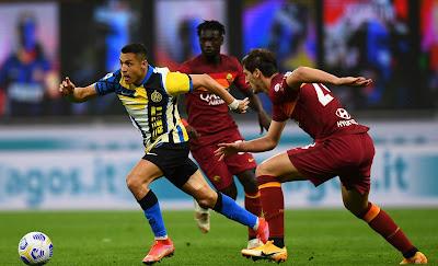 ملخص واهداف مباراة انتر ميلان وروما (3-1) الدوري الايطالي