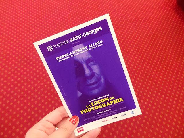 Photographie Pierre-Anthony Allard conférence-spectacle théâtre spectacle Paris Théâtre Saint-Georges