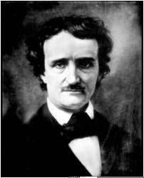 Retrato en blanco y negro de Edgar Allan Poe