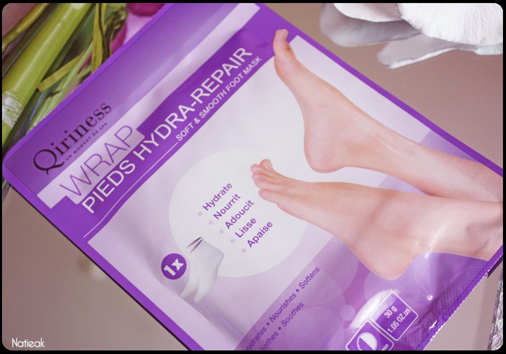 Masque Wrap Hydra-repair pieds de Qiriness