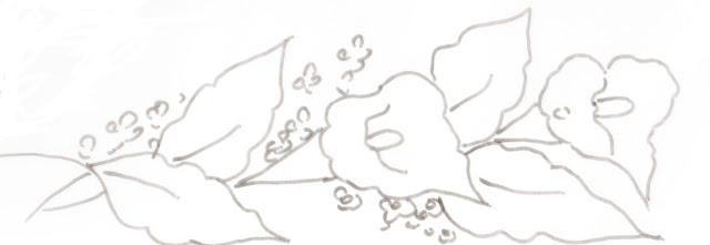 pintura em tecido toalha de banho flores risco copo de leite
