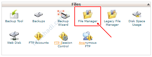 akses File Manager