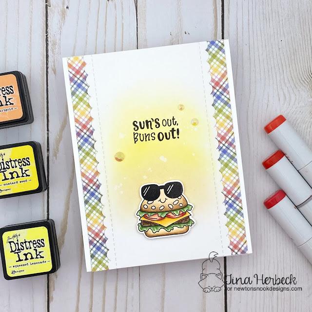 Cheeseburger Stamp Fast Food Card