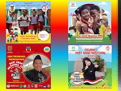 25+ Link dan Cara Pasang Foto Keren Di Twibbon Hari Anak Nasional 23 Juli 2021