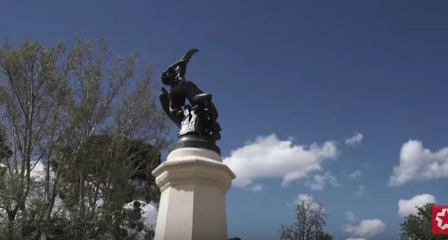 El Ángel Caído de Madrid, estatua del diablo