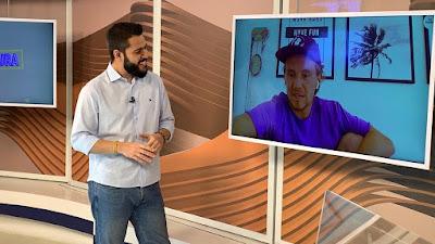 O repórter Jeremias Wernek e Vitor Kley - Foto: Divulgação/SBT