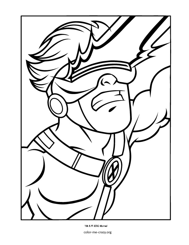 free superhero squad coloring pages - photo #4
