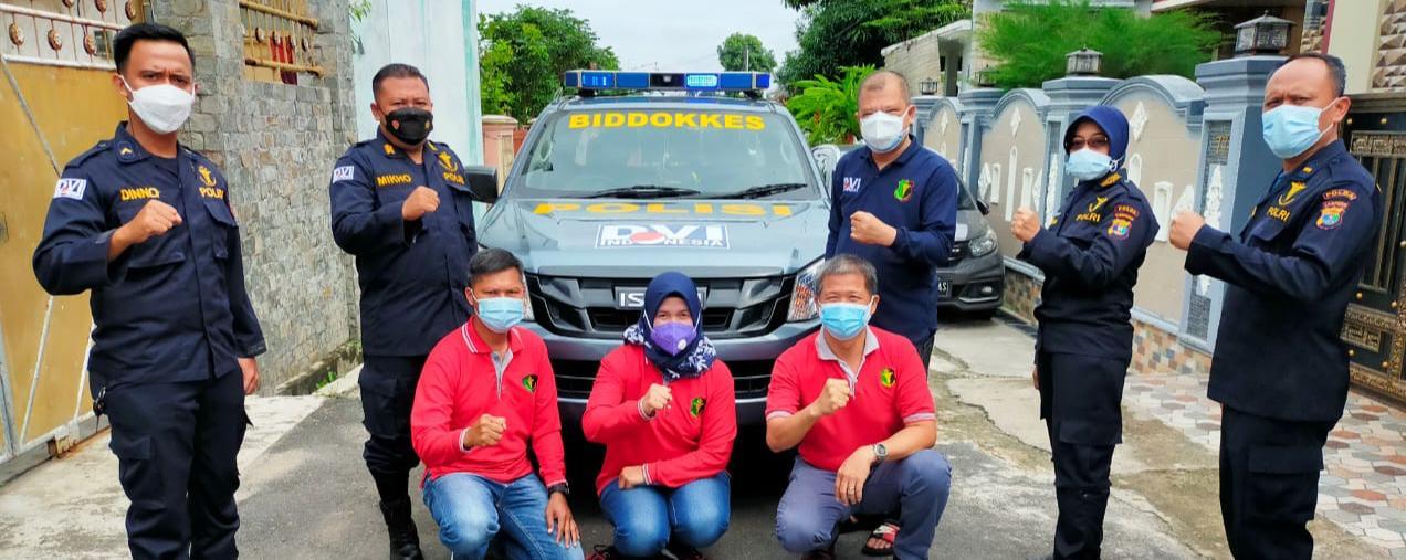 Tim DVI Polda Lampung Ambil Sample DNA Keluarga Tiga Penumpang Sriwijaya Air di Tulangbawang Barat.