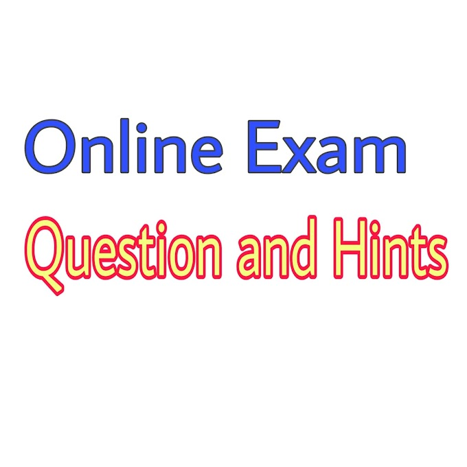 Online Exam Question And Hint