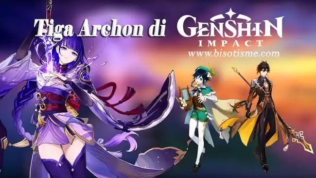 Tiga Archon di Genshin Impact