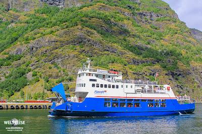 Skagastøl ferry Norway www.WELTREISE.tv